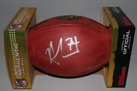 NFL - JETS NICK MANGOLD SIGNED AUTHENTIC FOOTBALL