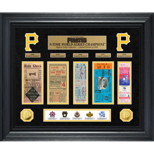 Photo of Serial #1! Pittsburgh Pirates World Series Deluxe Gold Coin & Ticket Collection