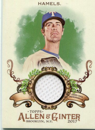 Photo of 2017 Topps Allen and Ginter Relics #FSRBCH Cole Hamels B