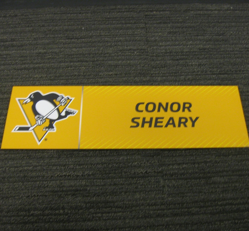 Conor Sheary 2017 Stanley Cup Final Media Name Plate - Pittsburgh Penguins