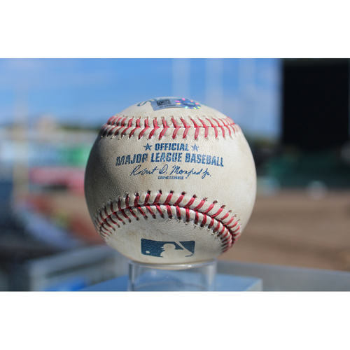Photo of Game-Used Baseball: Andrew Romine 254th Career Hit (DET at KC - 9/28/17)