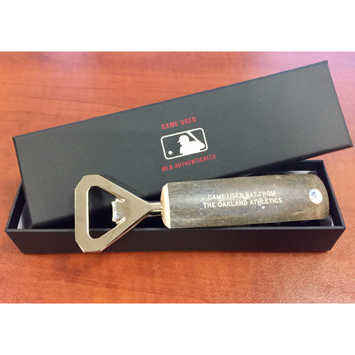 Khris Davis Game-Used Bat Bottle Opener