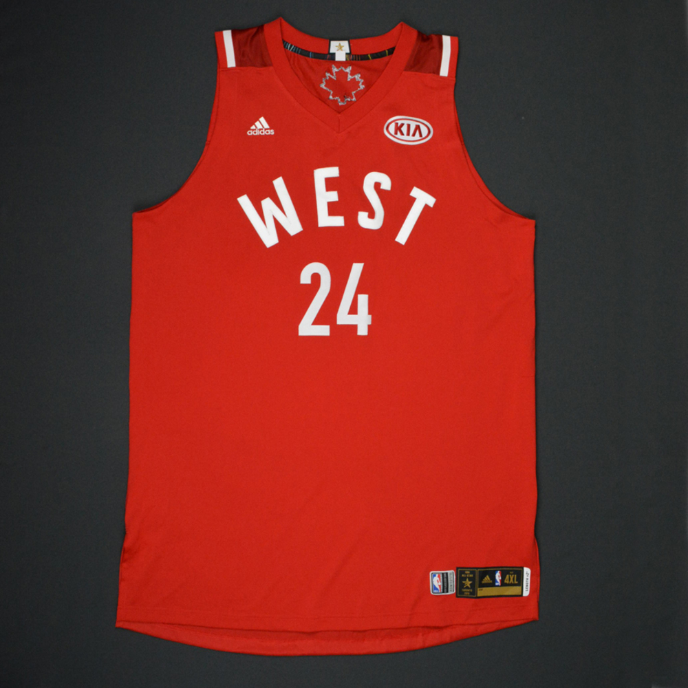 Kobe Bryant - 2016 NBA All-Star Game - Western Conference - Game-Worn Jersey - 1st Half Only - Final NBA All-Star Game