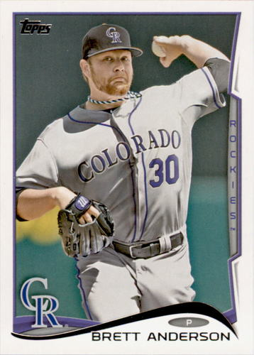Photo of 2014 Topps #431 Brett Anderson
