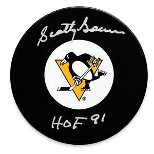 Scotty Bowman Pittsburgh Penguins HOF Autographed Puck