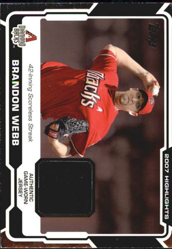 Photo of 2008 Topps Highlights Relics #BW Brandon Webb C2