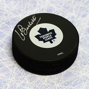 Pat Boutette Toronto Maple Leafs Autographed Hockey Puck