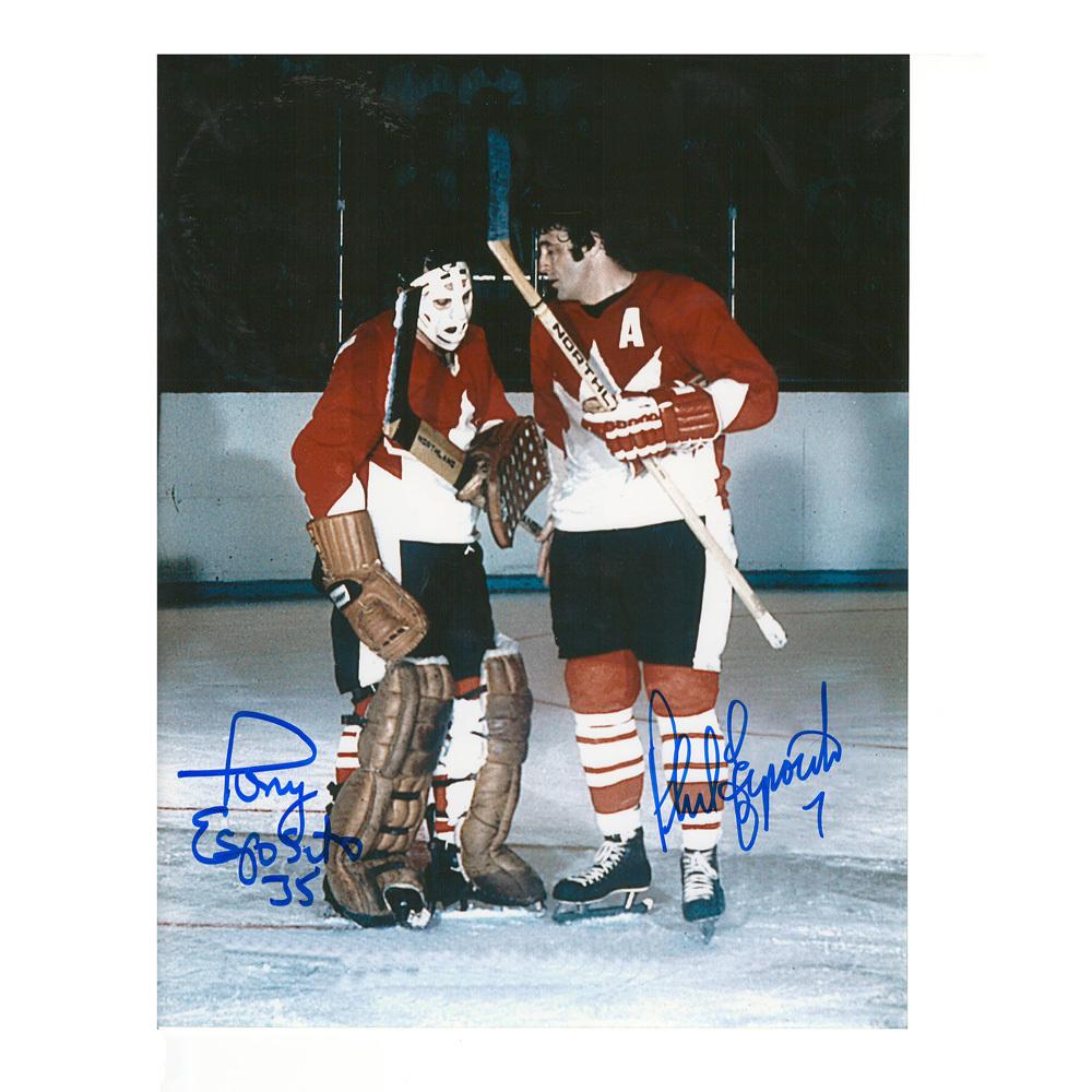 PHIL & TONY ESPOSITO Signed Team Canada 8 X 10 Photo - 70134