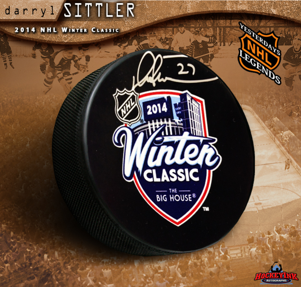 DARRYL SITTLER Signed 2014 NHL Winter Classic Puck