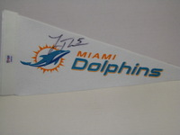 DOLPHINS - LOGAN THOMAS SIGNED DOLPHINS MINI PENNANT
