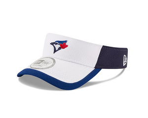 Adult Block Visor Adjustable White/Royal by New Era