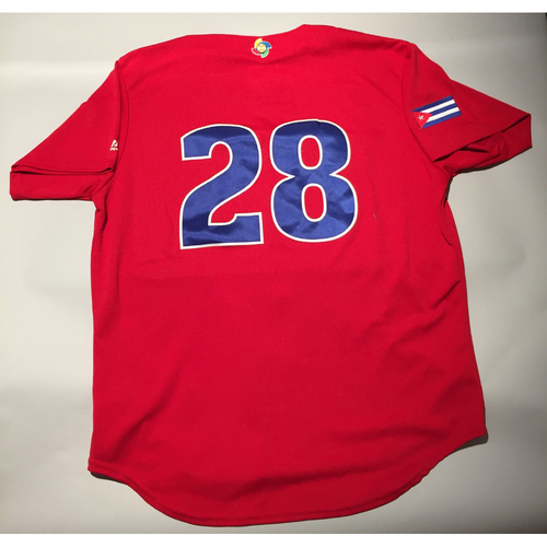 2017 WBC: Cuba Game-Used Batting Practice Jersey, #28