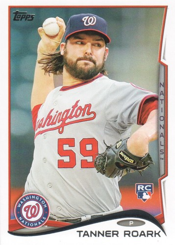 Photo of 2014 Topps #602 Tanner Roark Rookie Card -- Nationals post-season