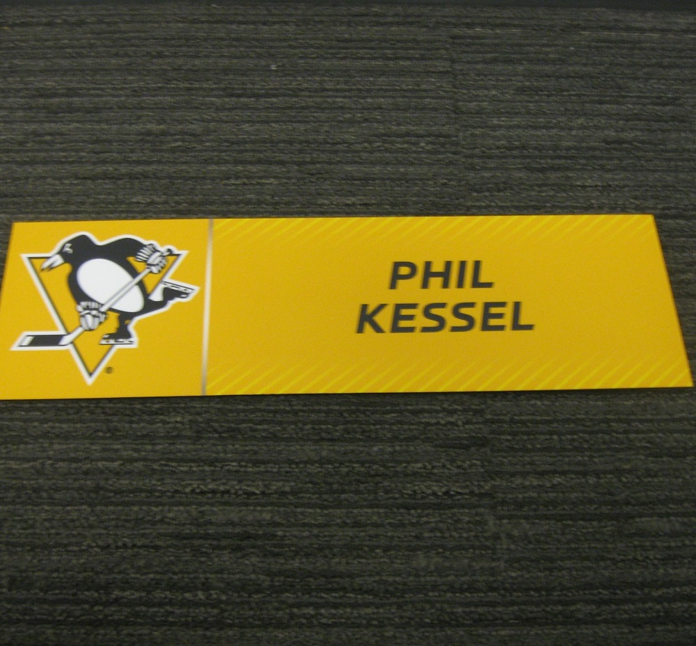 Phil Kessel 2017 Stanley Cup Final Media Name Plate - Pittsburgh Penguins