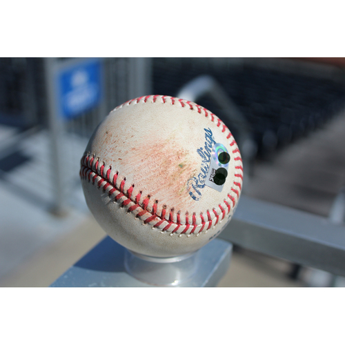 Photo of Game-Used Baseball: JaCoby Jones 27th Career Hit & 15th Career RBI (DET at KC - 9/28/17)