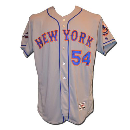 Photo of T.J. Rivera #54 - Team Issued Road Grey Jersey - 2016 Postseason