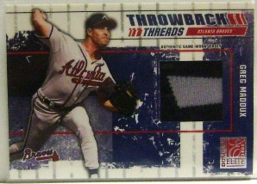 Photo of 2003 Donruss Elite Throwback Threads #61 Greg Maddux/Tom Glavine