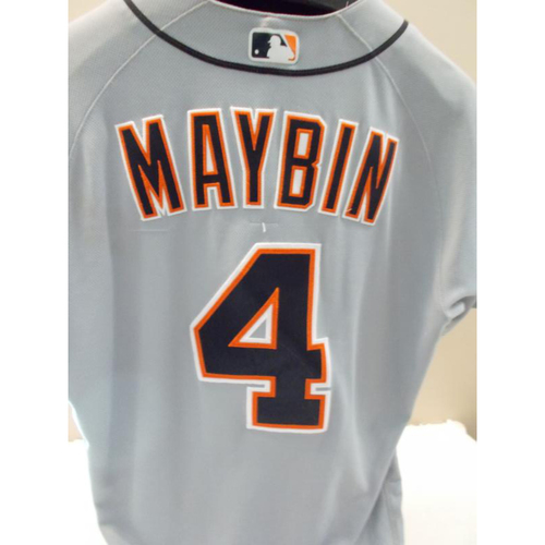 Photo of Game-Used Cameron Maybin Road Jersey