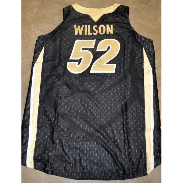 Black Mesh Women's Basketball Jersey // No. 52 Ashley Wilson