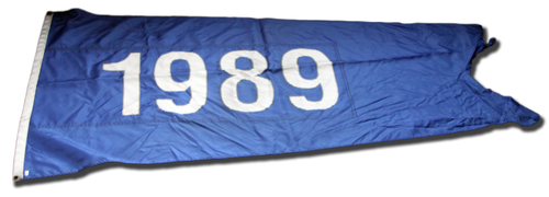 Photo of Wrigley Field Collection -- Rooftop Flag -- 1989