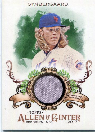 Photo of 2017 Topps Allen and Ginter Relics #FSRBNS Noah Syndergaard B