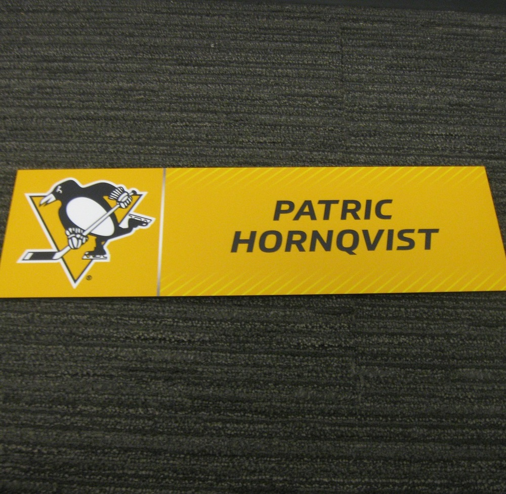 Patric Hornqvist 2017 Stanley Cup Final Media Name Plate - Pittsburgh Penguins
