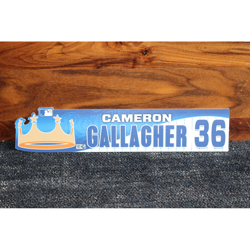 Game-Used Locker Name Plate: Cameron Gallagher