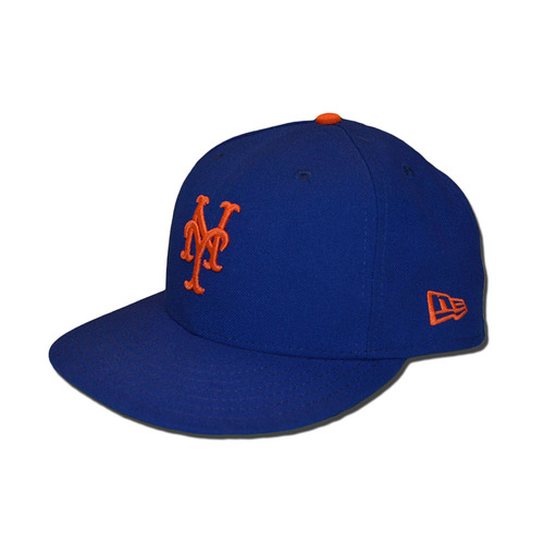 Photo of Tom Goodwin #88 - Game Used Blue Hat - Mets vs. Braves - 9/27/17