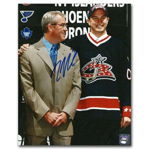 Rick Nash Autographed Columbus Blue Jackets 2002 NHL Entry Draft 8X10 (New York Rangers)