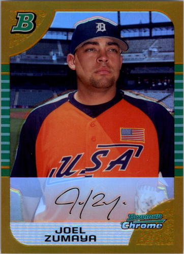 Photo of 2005 Bowman Chrome Draft Gold Refractors #131 Joel Zumaya PROS