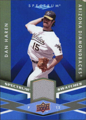 Photo of 2009 Upper Deck Spectrum Spectrum Swatches Blue #SSDH Dan Haren