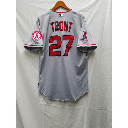 Photo of Mike Trout Game-Used Jersey - Last game of 2015