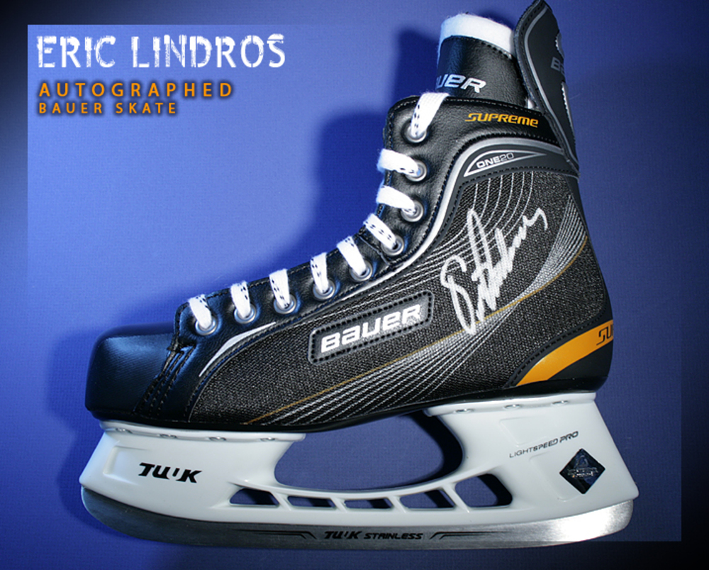 ERIC LINDROS Signed Bauer Skate - Philadelphia Flyers