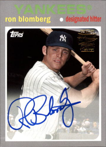 Photo of 2016 Topps Archives Fan Favorites Autographs #FFARB Ron Blomberg