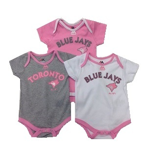 Infant 3 Piece Wordmark Creeper Set by Majestic
