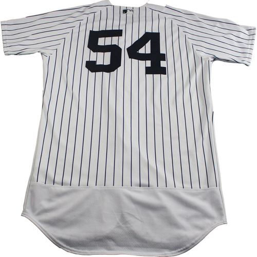 Photo of Aroldis Chapman New York Yankees 2017 Game-Used #54 Pinstripe Jersey (6/25/2017) (Size 46)