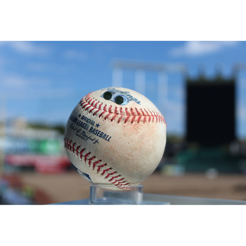Photo of Game-Used Baseball: Rymer Liriano 29th Career Hit (CWS at KC - 9/12/17)