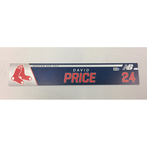 Photo of David Price June 29, 2017 Game-Used Locker Tag
