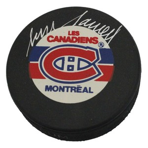 Serge Savard Autographed Montreal Canadians Puck