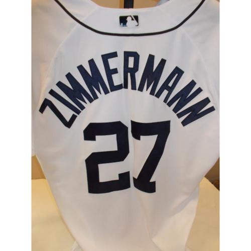 Photo of Game-Used Home Jordan Zimmermann Jersey