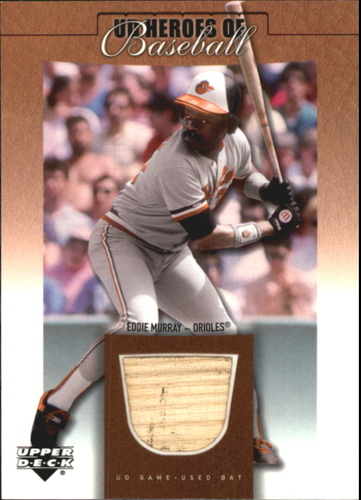 Photo of 2001 Upper Deck Prospect Premieres Heroes of Baseball Game Bat Eddie Murray