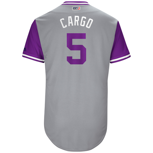 "Photo of Carlos ""Cargo"" Gonzalez Colorado Rockies Game-Used Players Weekend Jersey"
