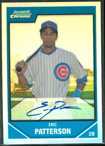 Photo of 2007 Bowman Chrome Prospects Refractors #BC247 Eric Patterson AU