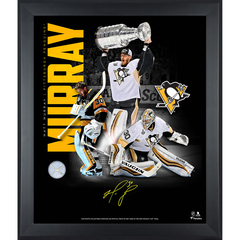 Matt Murray Pittsburgh Penguins Framed Autographed 20