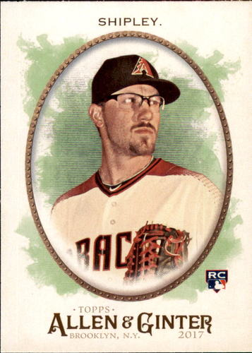 Photo of 2017 Topps Allen and Ginter #342 Braden Shipley Rookie Card -- D'backs post-season