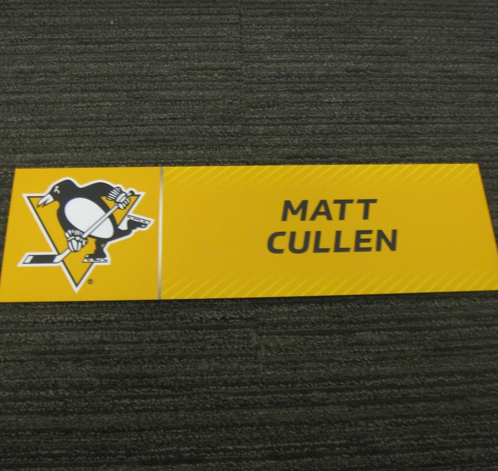 Matt Cullen 2017 Stanley Cup Final Media Name Plate - Pittsburgh Penguins