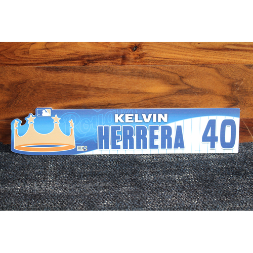 Game-Used Locker Name Plate: Kelvin Herrera