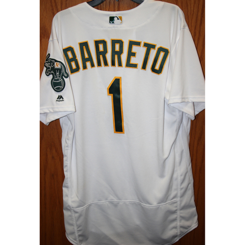 """Photo of Franklin Barreto Game-Used """"Atleticos"""" Jersey"""