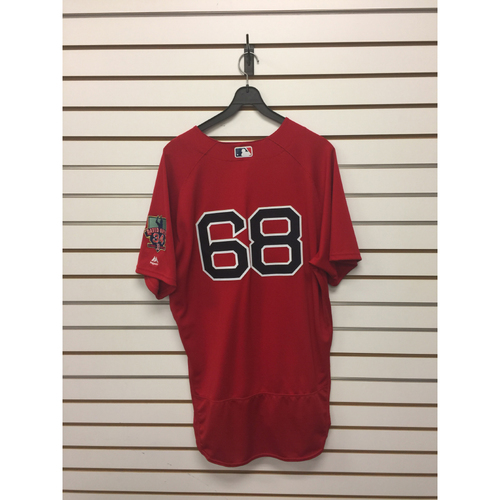 Matt Barnes Game-Used September 30, 2016 Home Alternate Jersey with David Ortiz Final Season Patch