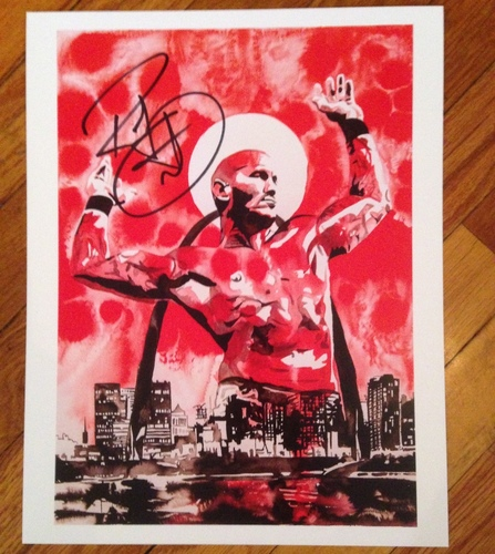 "Photo of Randy Orton SIGNED 11"" x 14"" Rob Schamberger Art Print"